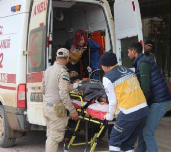 El Bab'da yaralanan 7 ÖSO askeri Kilis'e getirildi