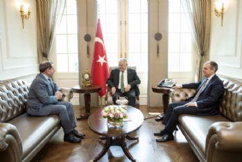 Başbakan'ın konuğu Dursun Özbek'ti