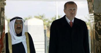 Erdoğan Kuveyt Emiri Sabah'ı törenle karşıladı