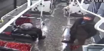 Türk bayrağına saldıran şahsı böyle dövdüler!