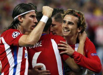 Atletico Madrid, sahasında Leicester City'i mağlup etti
