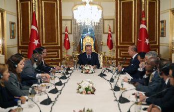 Cumhurbaşkanı Erdoğan yabancı temsilcilerle bir araya geldi