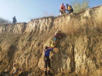 Araç uçurumdan uçtu: 2 ölü, 2 yaralı