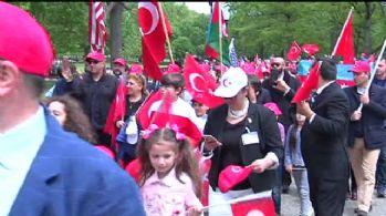 Beyaz Saray önünde başladı: 5 bin Türk katıldı