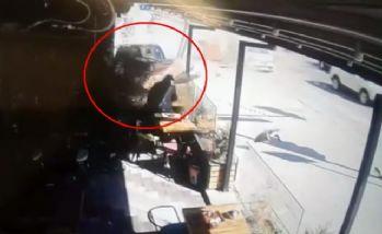 Kaza dehşeti kamerada