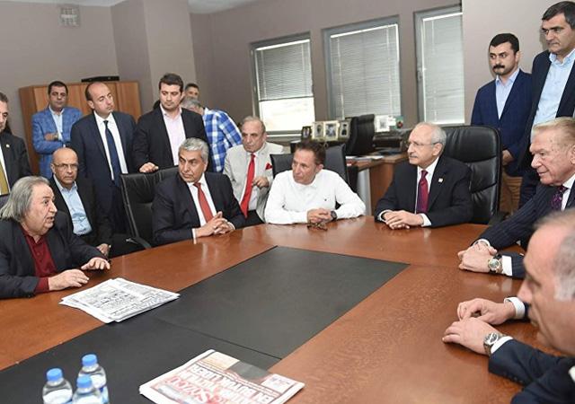 Kılıçdaroğlu'dan Sözcü'ye ziyaret