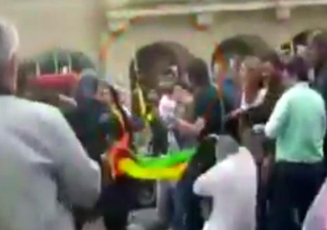 Alman polisinden PKK'lılara dayak!