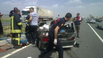 Kayseri'de feci kaza: 3 ölü, 1 yaralı