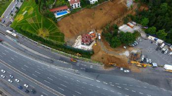15 Temmuz Zafer Anıtının yapımı havadan görüntülendi