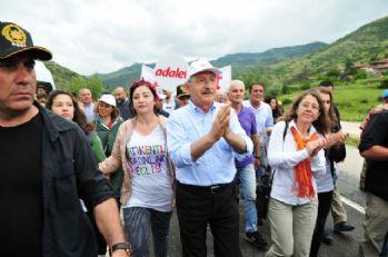 CHP'nin yürüyüşünün 5. günü tamamlandı
