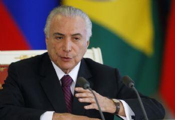 Brezilya Devlet Başkanı Temer'e 'rüşvet' suçlaması