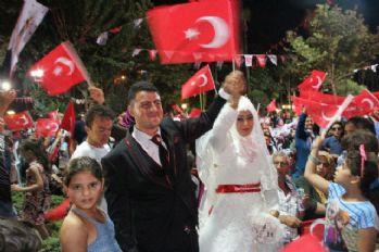 Düğün öncesi demokrasi nöbeti