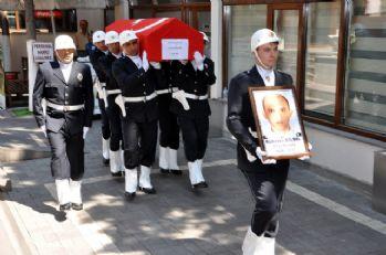 Uşak'ta şehit olan polis için tören düzenlendi