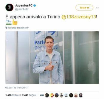 Szczesny Juventus'a transfer oldu
