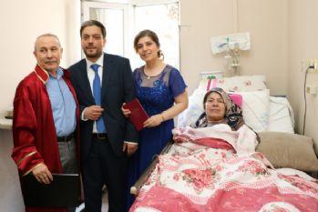 Annesi için nikahını hastane odasında kıydırdı