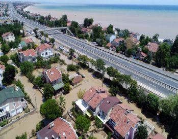 Selin vurduğu Silivri bölgesi havadan görüntülendi