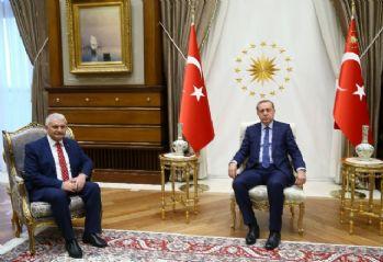Erdoğan-Yıldırım görüşmesi başladı