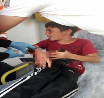 Küçük çocuğun koluna demir saplandı