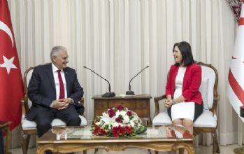 KKTC Meclis Başkanı Siber ile görüştü