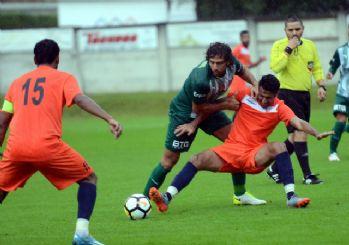 Bursaspor'un hazırlık maçında gol sesi çıkmadı