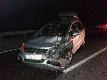 Yola çıkan inek kazaya neden oldu: 9 yaralı