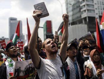 Malezya'da Mescid-i Aksa protestosu
