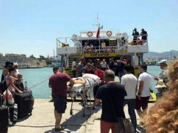 İstanköy Adası'ndan ilk Türk kafilesi Bodrum'a geldi