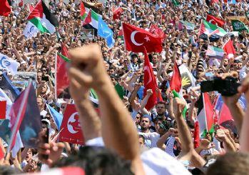 Tüm Türkiye Mescid-i Aksa için meydanlarda