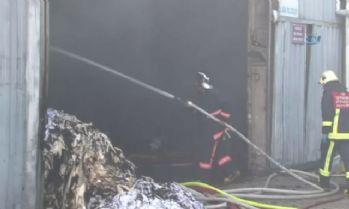 Çatalca'da tekstil fabrikasında korkutan yangın