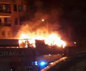 Ankara'da korkutan yangın