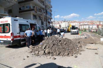 Ankara'da göçük altında kalan işçi öldü