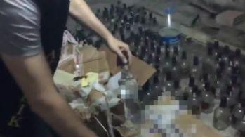 İstanbul'da sahte içki imalathanesine baskın