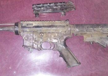 PKK'lı teröristler ABD yapımı M-16 ile yakalandı
