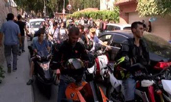 Cenazesi motosiklet konvoyu eşliğinde camiye götürüldü