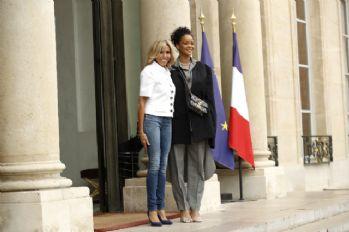 Rihanna, Fransa Cumhurbaşkanı Macron'la görüştü