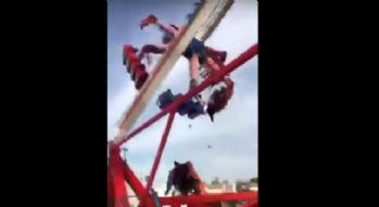 Lunapark'ta korkunç kaza: 1 ölü, 7 yaralı