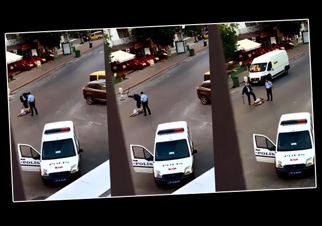 Antalya'da sokak ortasında polis dayağı! Turist kadına dayak atan polis tutuklandı