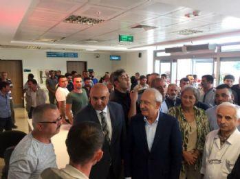 Kılıçdaroğlu, traktör kazasında yaralanan işçileri ziyaret etti