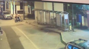 Elektrikli bisiklet hırsızlığı güvenlik kamerasında