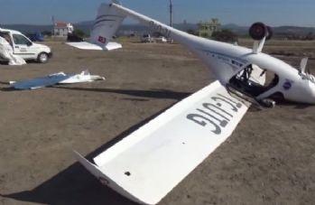 Çanakkale'de korkutan uçak kazası: 1 yaralı