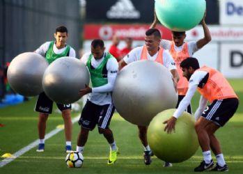 Beşiktaş'ta keyifli antrenman