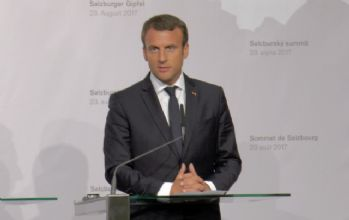 Fransa Cumhurbaşkanı Macron Salzburg'ta