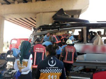 Ankara'da otobüs kazasında 5 ölü