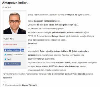 Ertuğrul Özkök ve Ahmet Hakan'a cevap