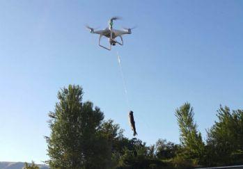 Oltanın yetişemediği yere drone yetişti