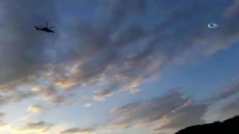 Ağrı'da helikopterli terör operasyonu kamerada