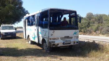 Çanakkale'de minibüs devrildi: 12 yaralı