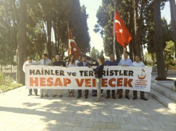 15 Temmuz gazileri Sezgin Tanrıkulu'nu protesto etti
