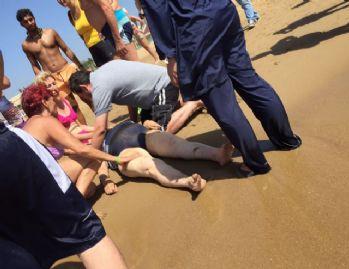 Denizde kalp krizi geçiren kadın öldü