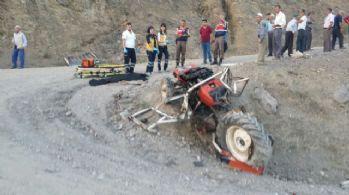 Samsun'da traktör kazası: 1 ölü, 1 yaralı